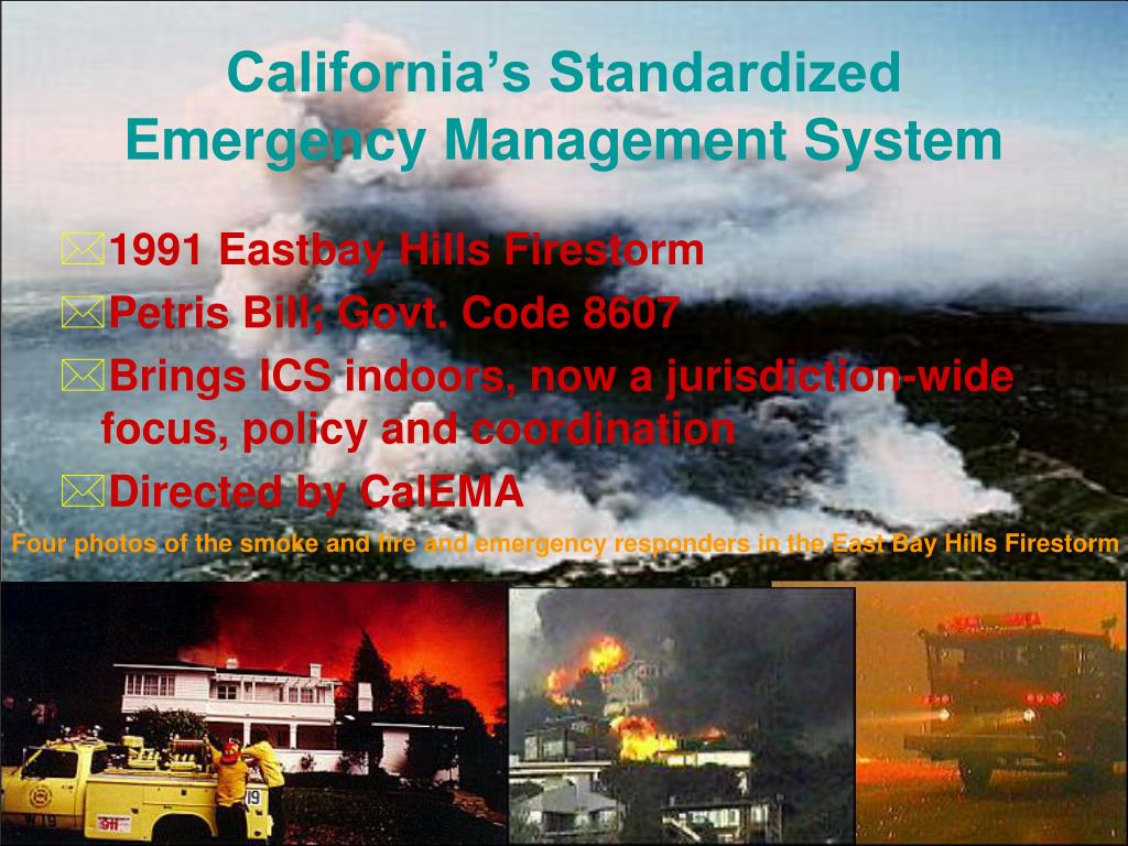 California's Standardized Emergency Management System