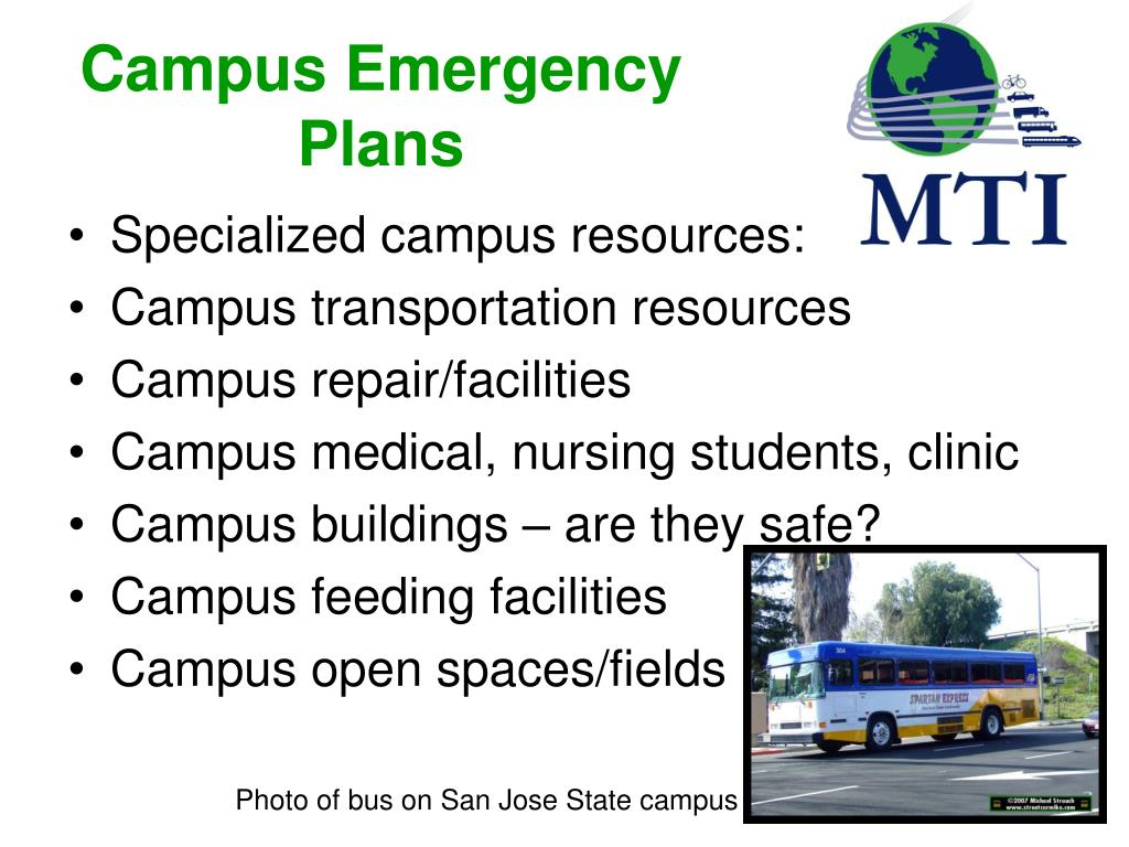 Campus Emergency Plans