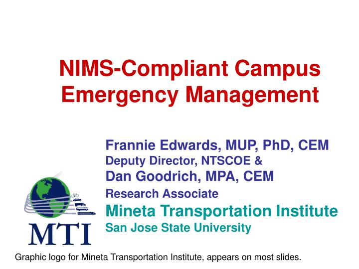 Nims compliant campus emergency management