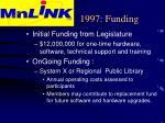 1997 funding