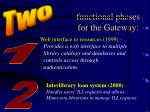 functional phases for the gateway