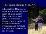 the vision behind mnlink
