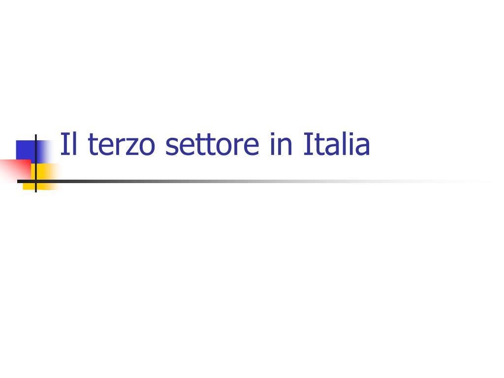 Il terzo settore in Italia