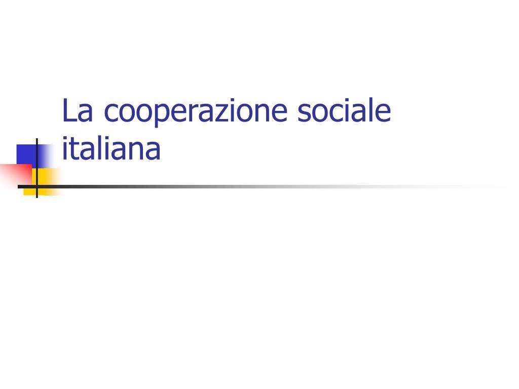 La cooperazione sociale italiana