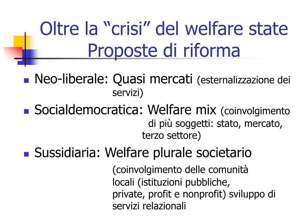 """Oltre la """"crisi"""" del welfare state"""