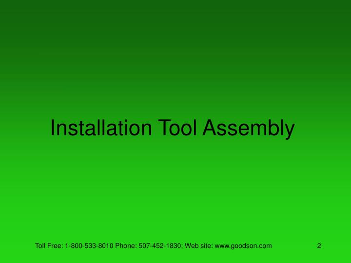 Installation tool assembly