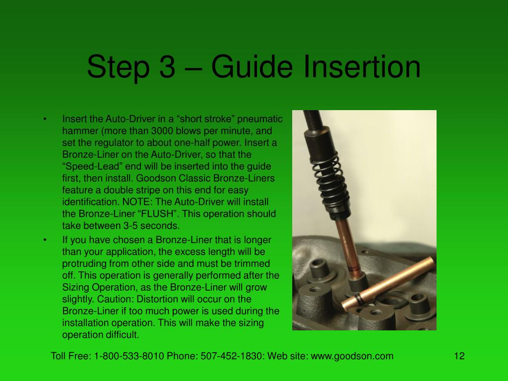 Step 3 – Guide Insertion