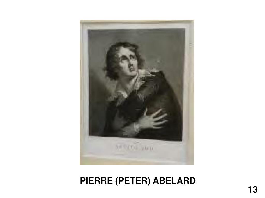 PIERRE (PETER) ABELARD