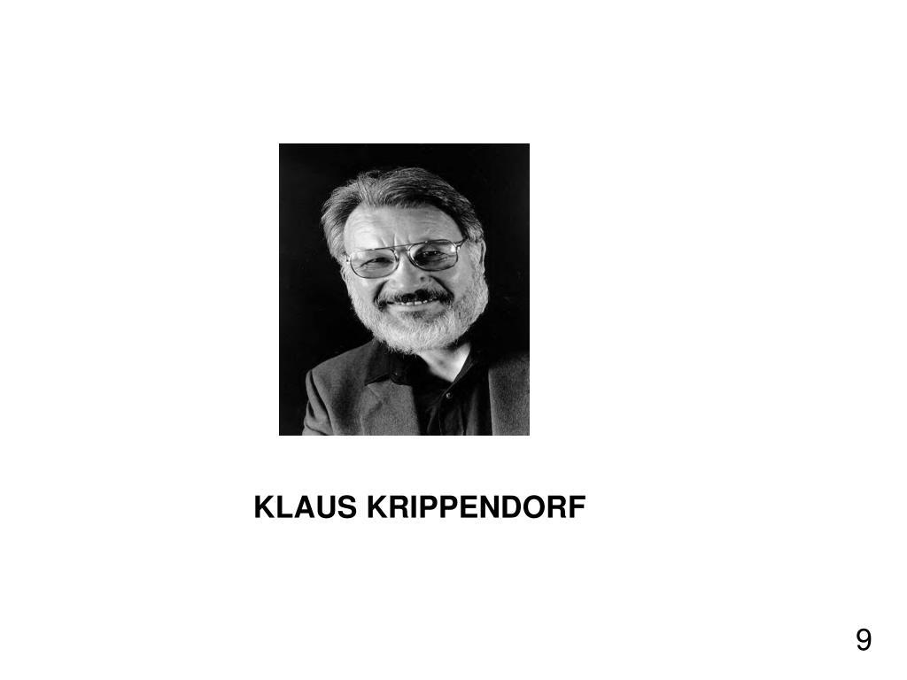 KLAUS KRIPPENDORF