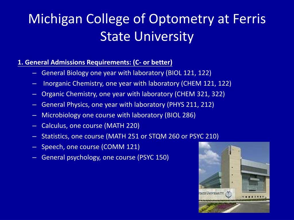 Michigan College of Optometry at Ferris State University