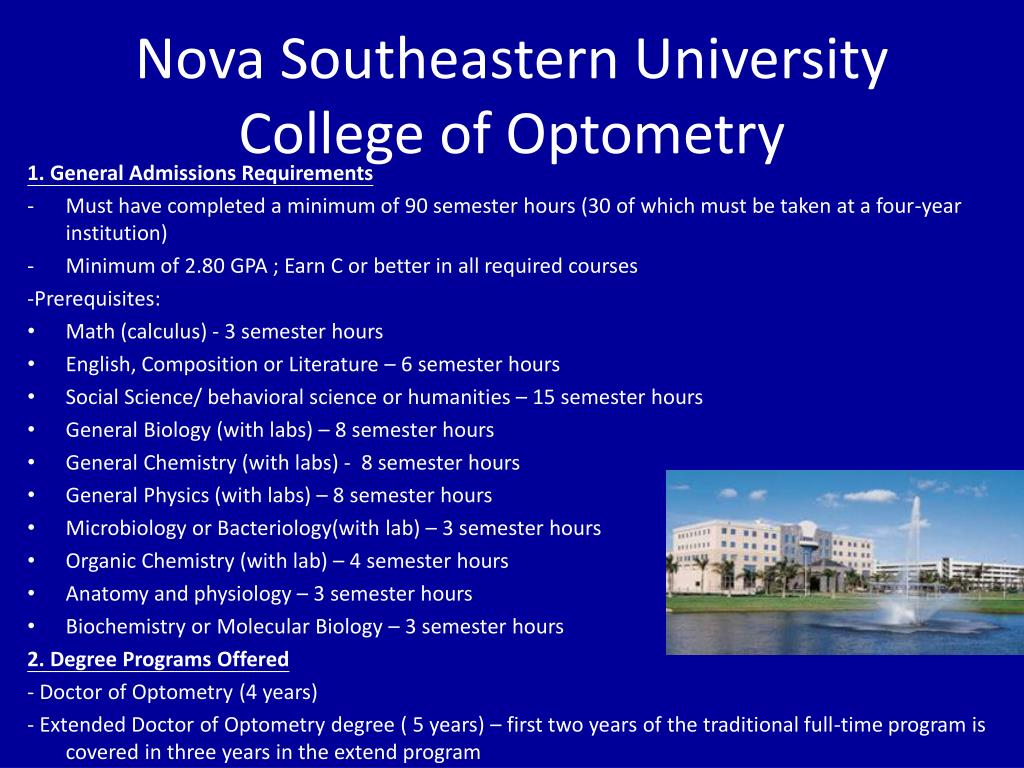Nova Southeastern University College of Optometry