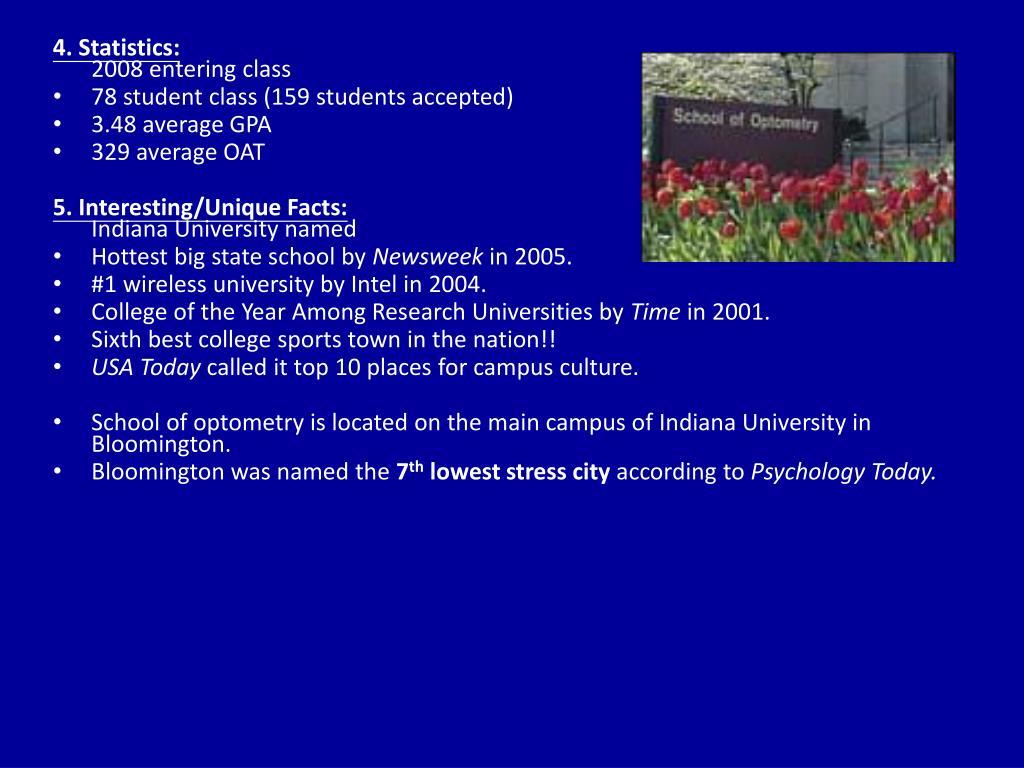 4. Statistics: