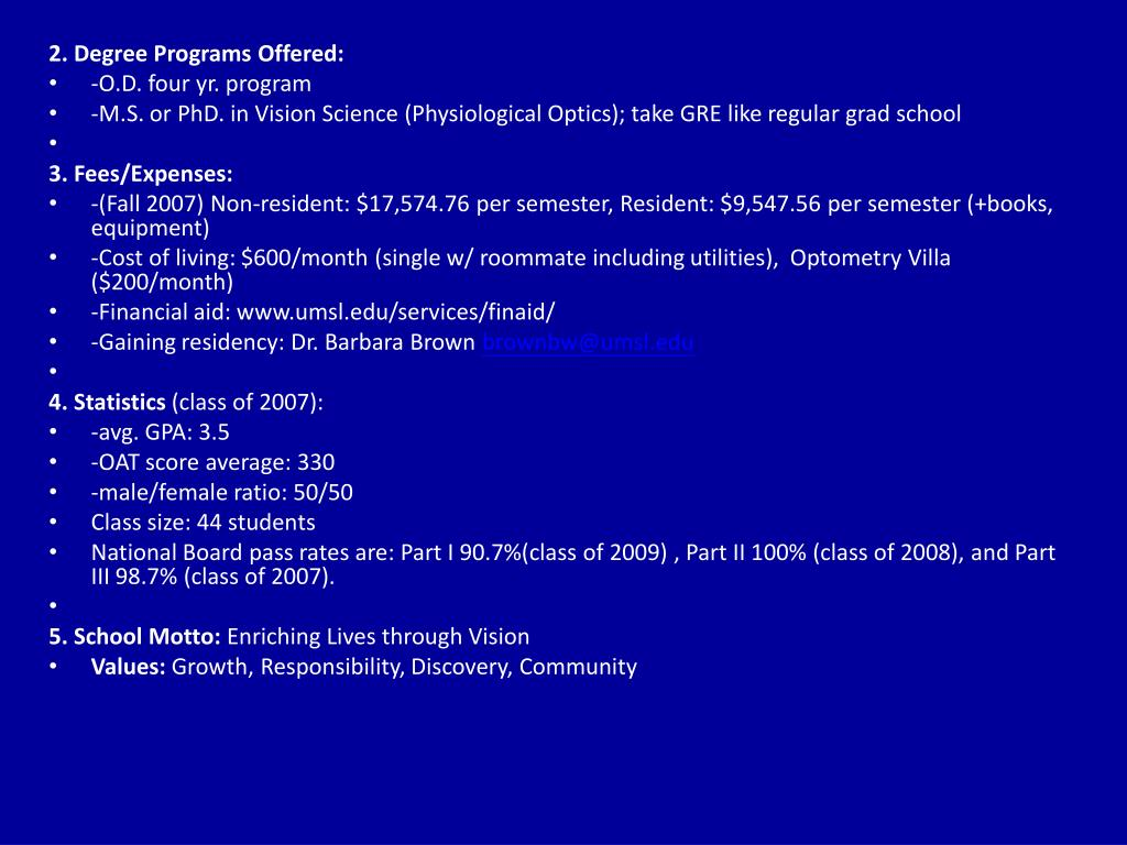 2. Degree Programs Offered: