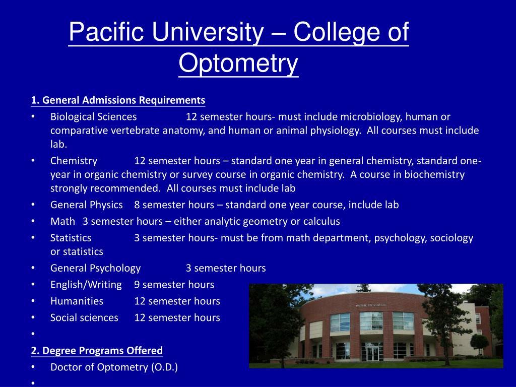 Pacific University – College of Optometry