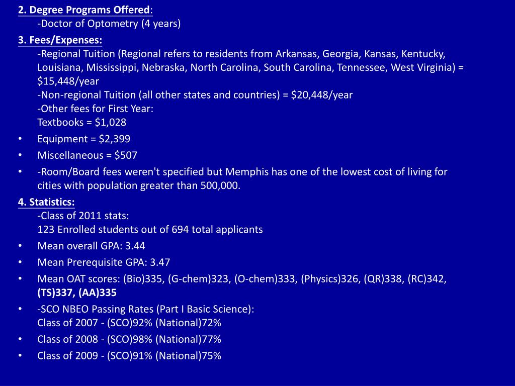 2. Degree Programs Offered