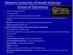 western university of health sciences school of optometry