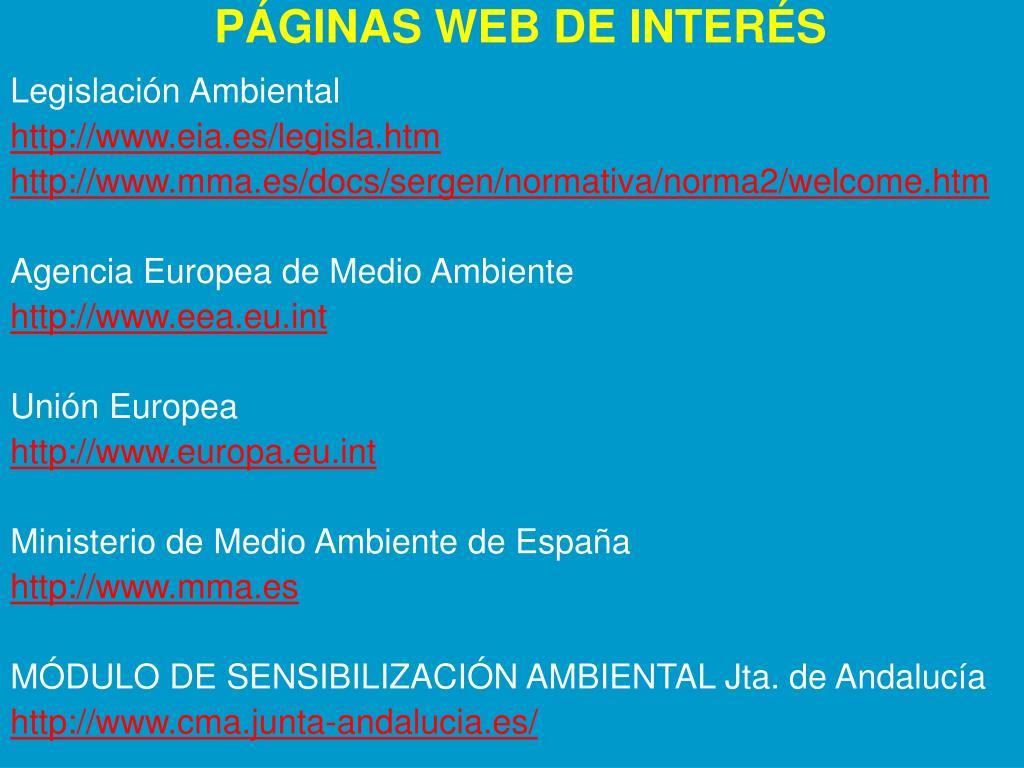 PÁGINAS WEB DE INTERÉS