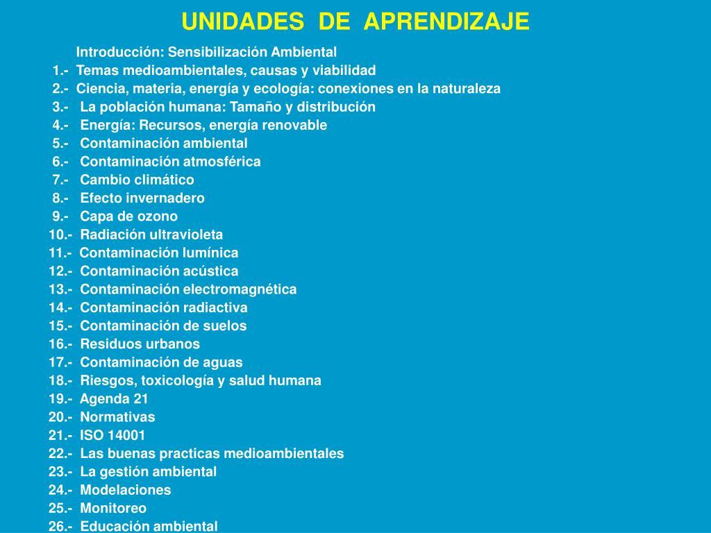UNIDADES  DE  APRENDIZAJE