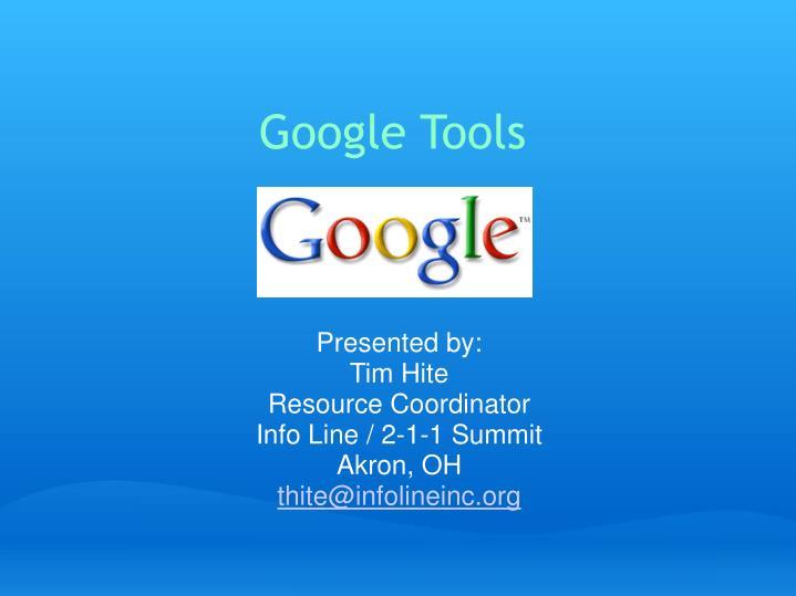 google tools n.