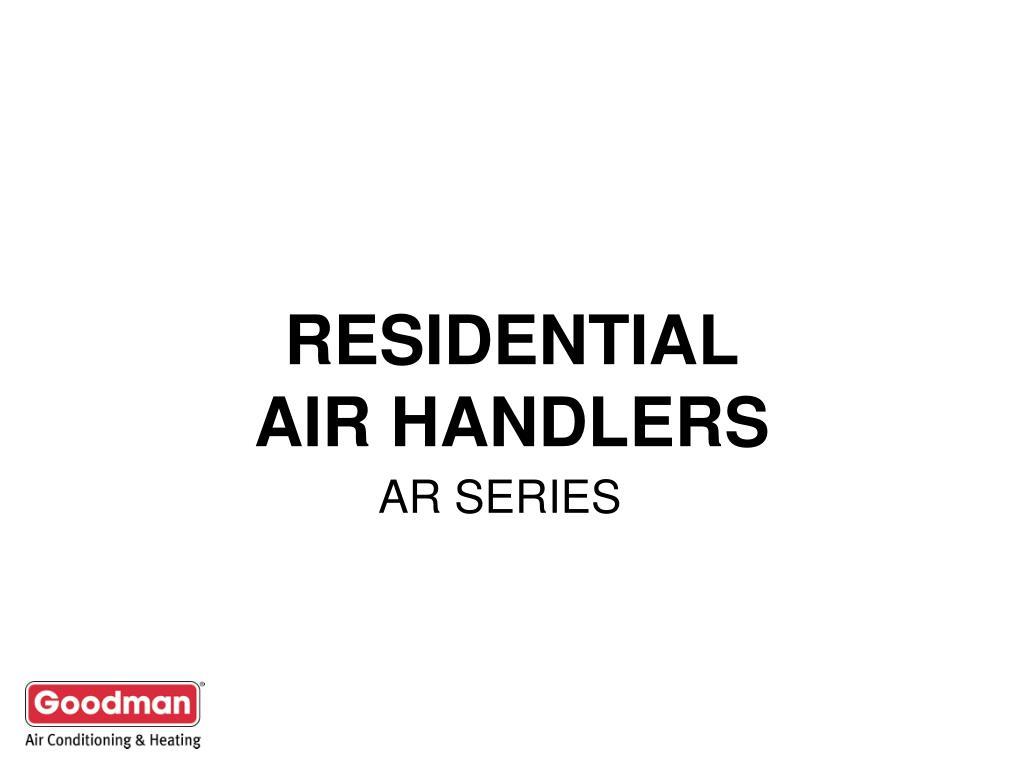 residential air handlers l.