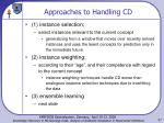 approaches to handling cd