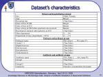 dataset s characteristics