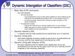 dynamic intergation of classifiers dic