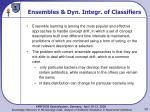 ensembles dyn integr of classifiers
