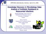 knowledge discovery in microbiology data analysis of antibiotic resistance in nosocomial infections