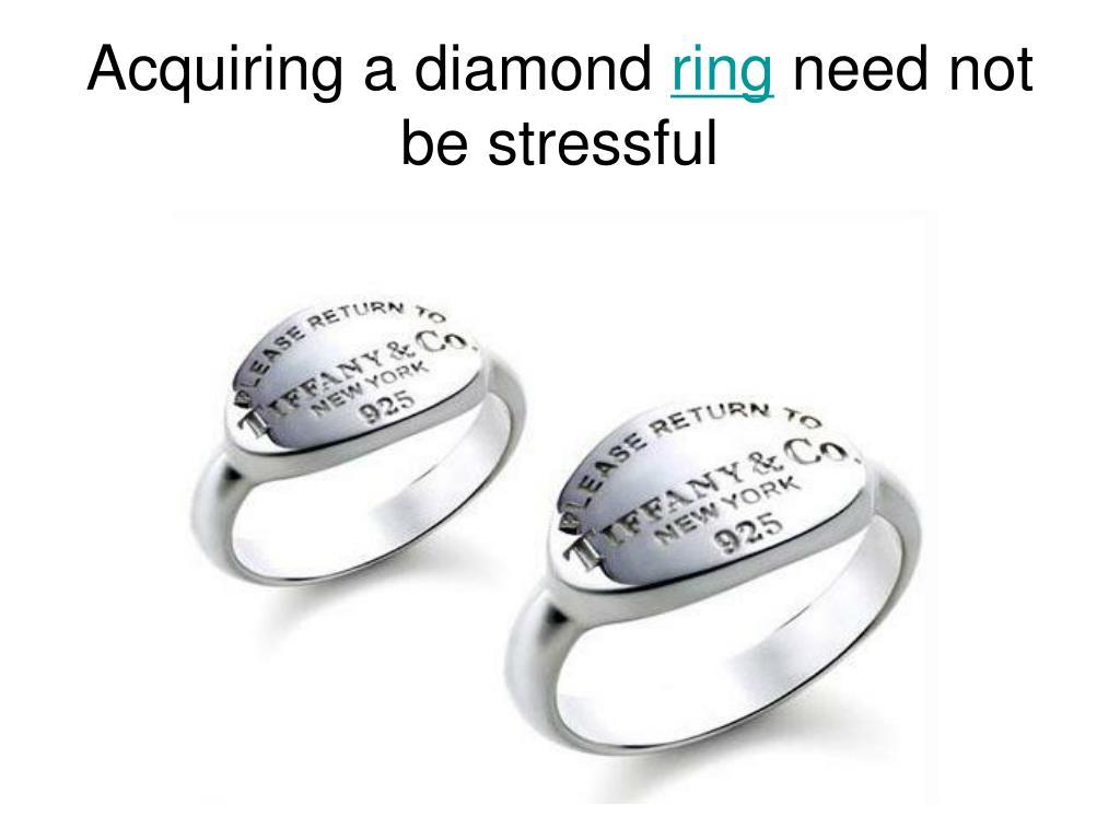 Acquiring a diamond
