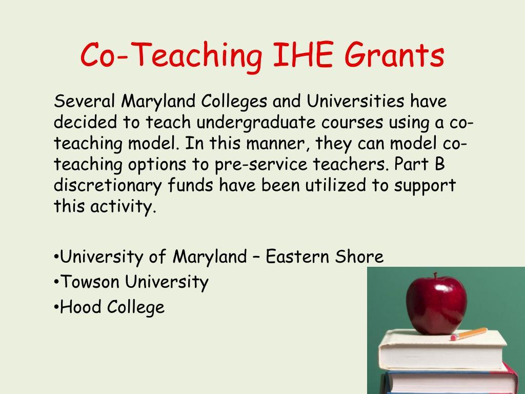 Co-Teaching IHE Grants