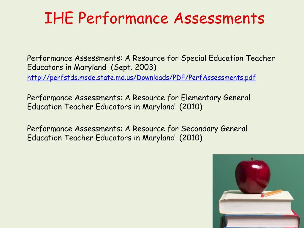 IHE Performance Assessments