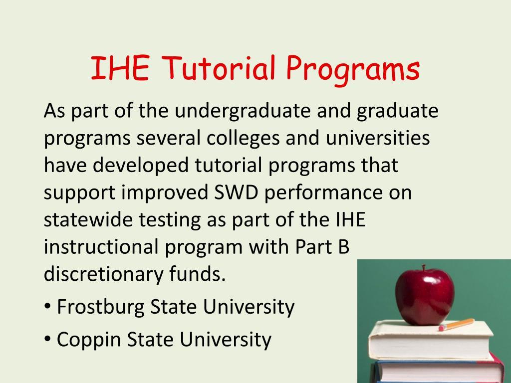 IHE Tutorial Programs