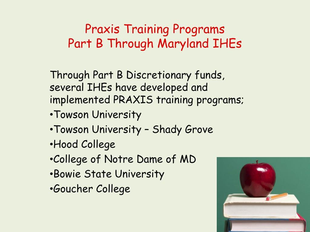 Praxis Training Programs