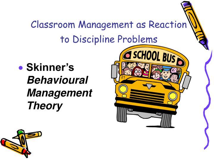 Classroom management as reaction to discipline problems