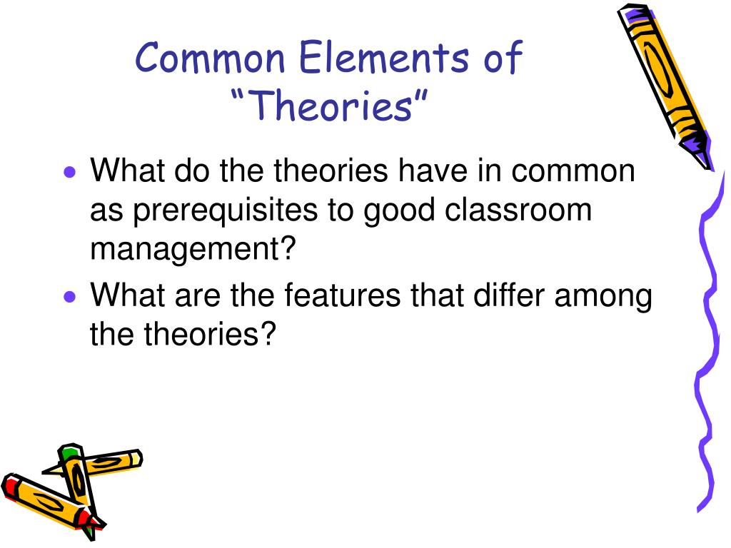 "Common Elements of ""Theories"""