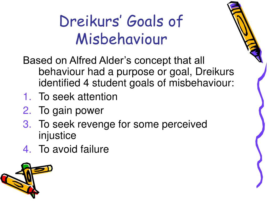 Dreikurs' Goals of Misbehaviour