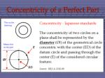 concentricity of a perfect part