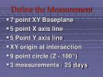 define the measurement40