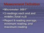 measurement definition