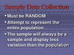 sample data collection