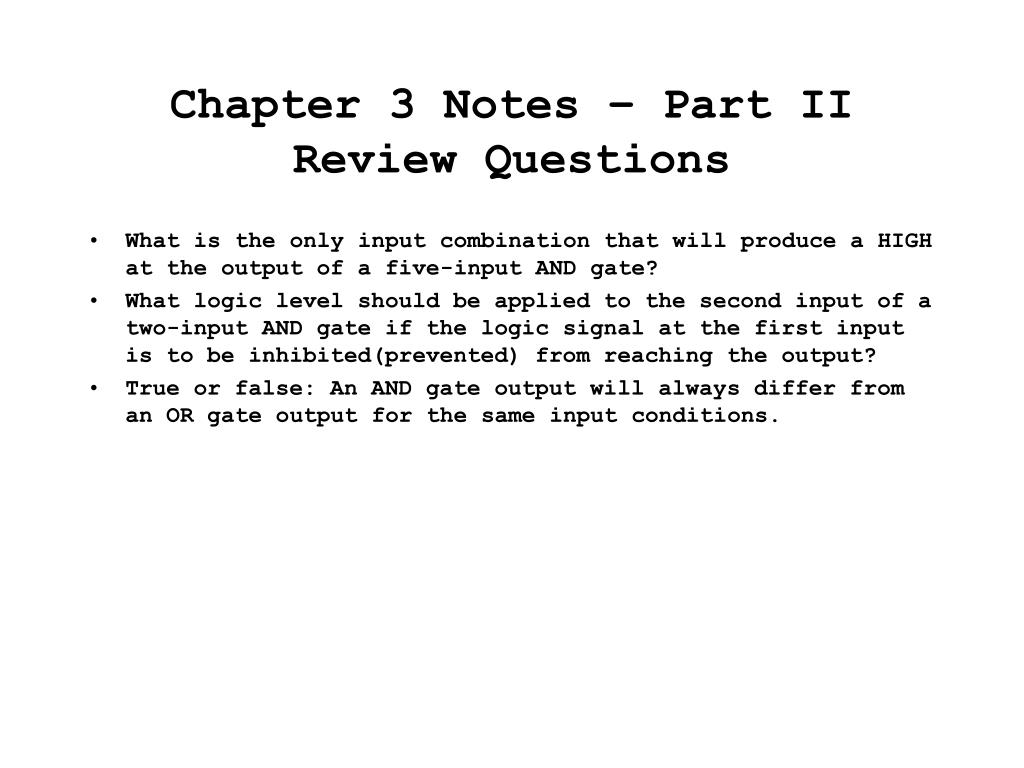chapter 3 notes part ii review questions l.