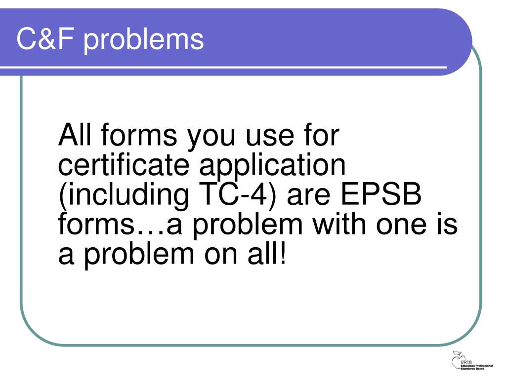 C&F problems