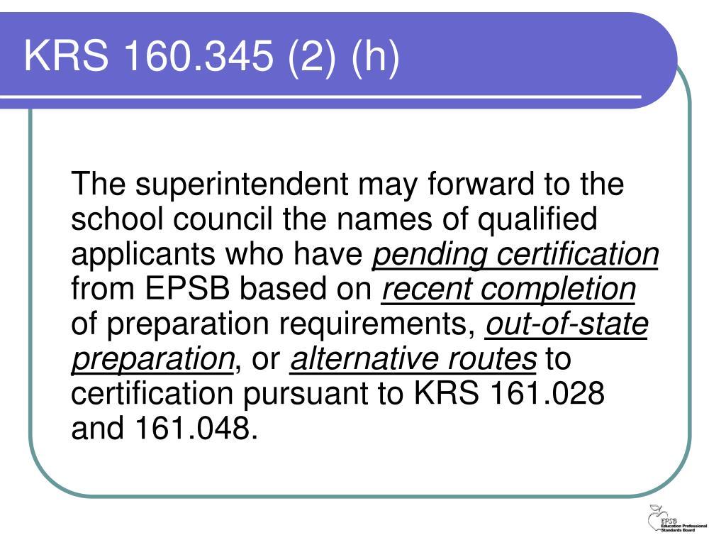 KRS 160.345 (2) (h)