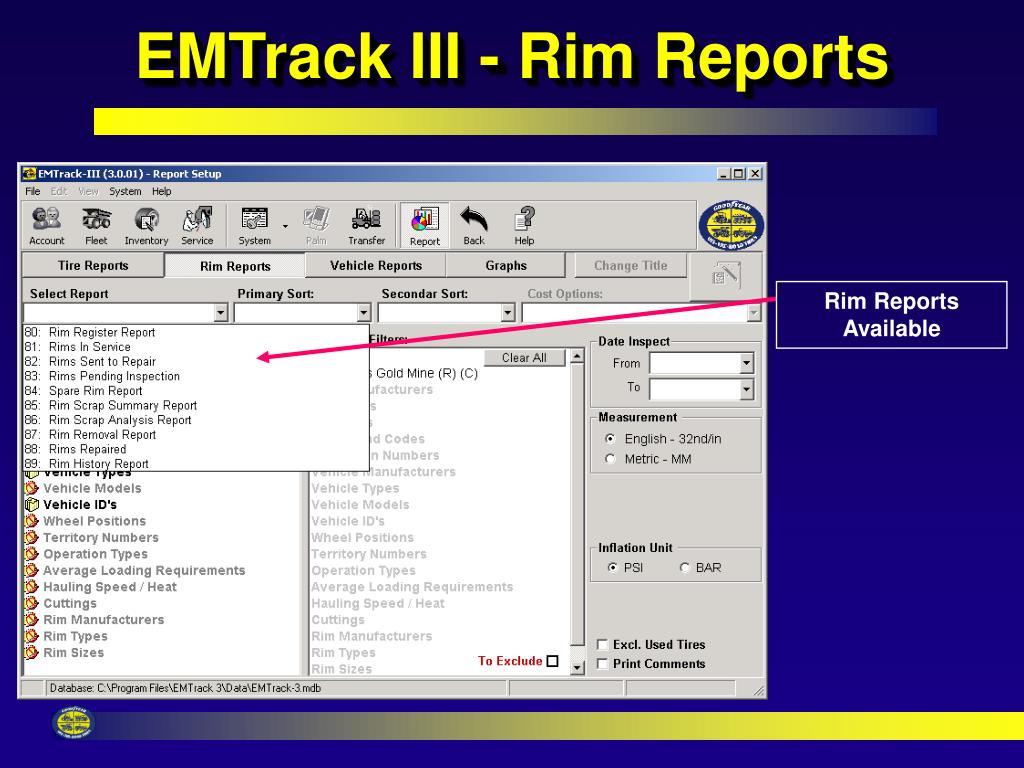 EMTrack III - Rim Reports