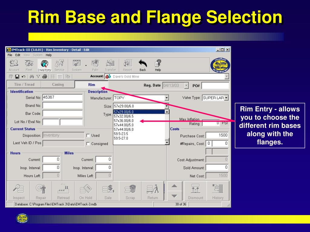 Rim Base and Flange Selection