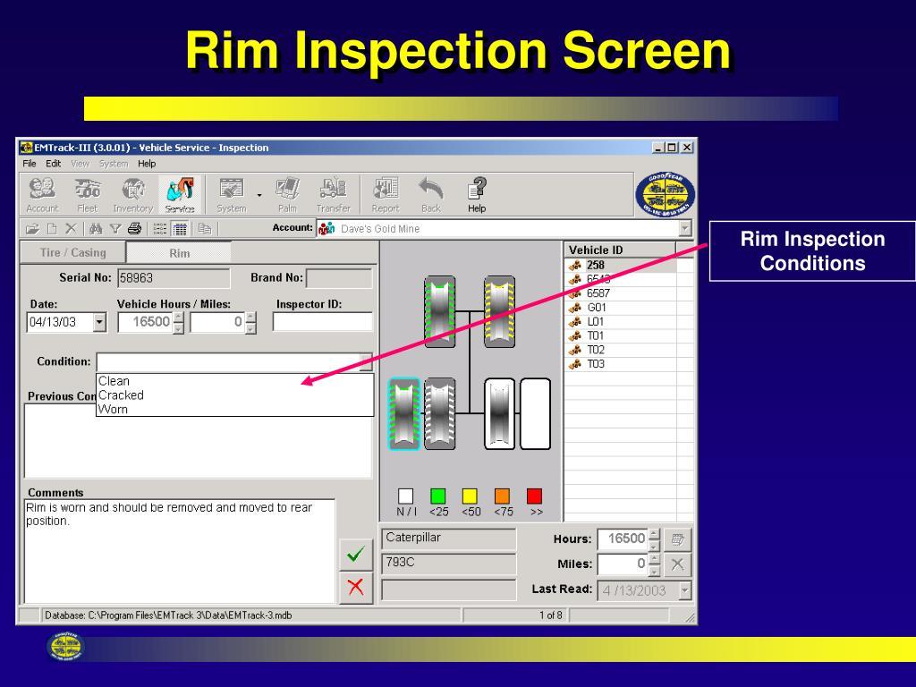 Rim Inspection Screen