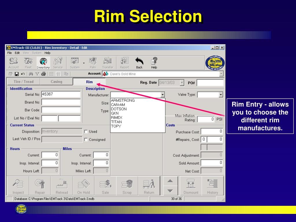 Rim Selection