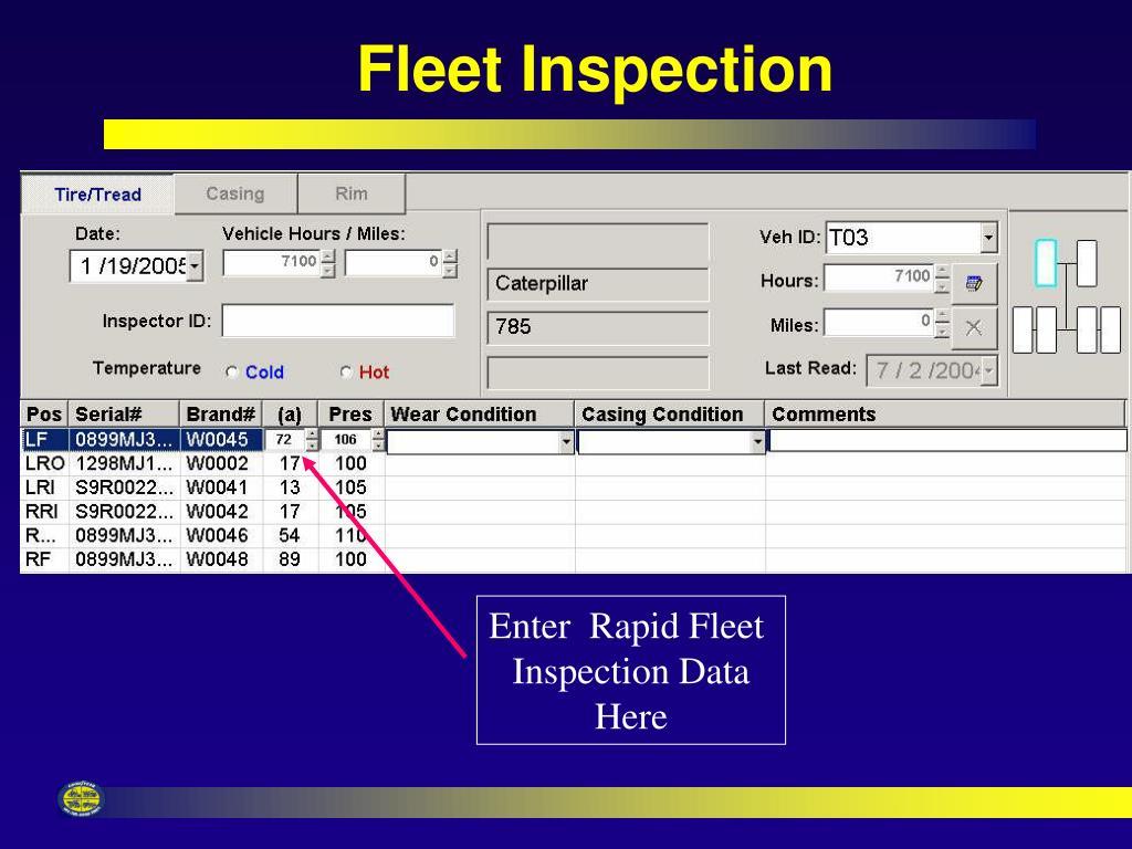 Fleet Inspection