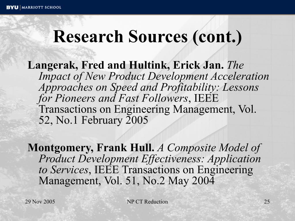 Research Sources (cont.)